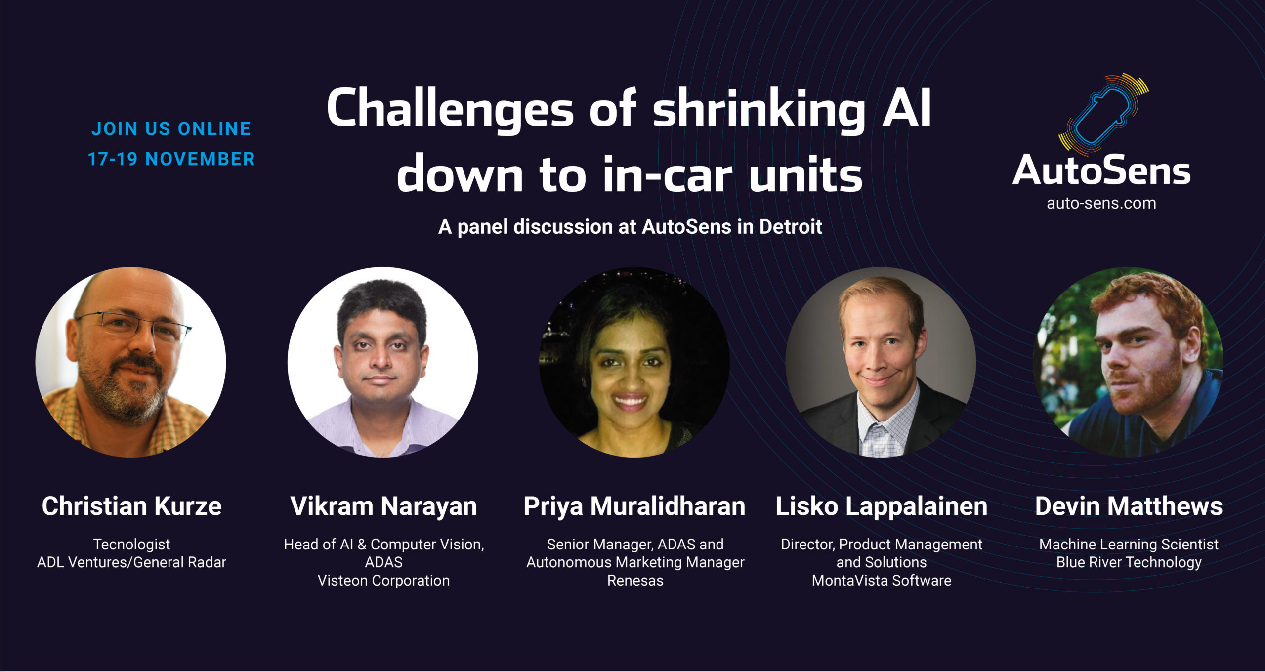 Panel discussion: Challenges of shrinking AI down to in-car units