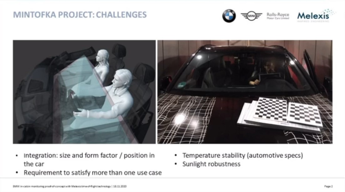 BMW in-cabin monitoring proof-of-concept with Melexis time-of-flight technology