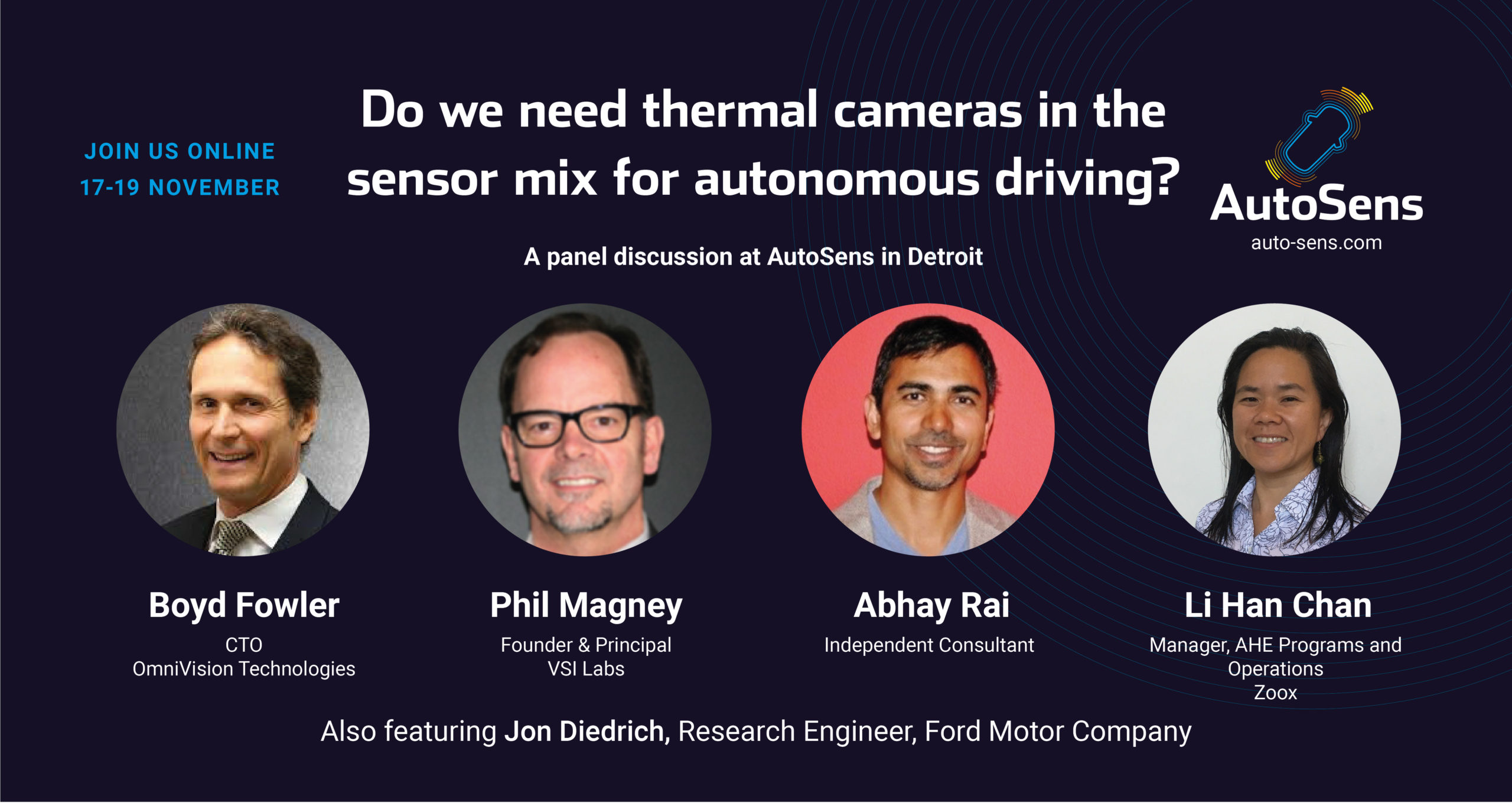 Panel discussion: Do we need thermal cameras in the sensor mix for autonomous driving?