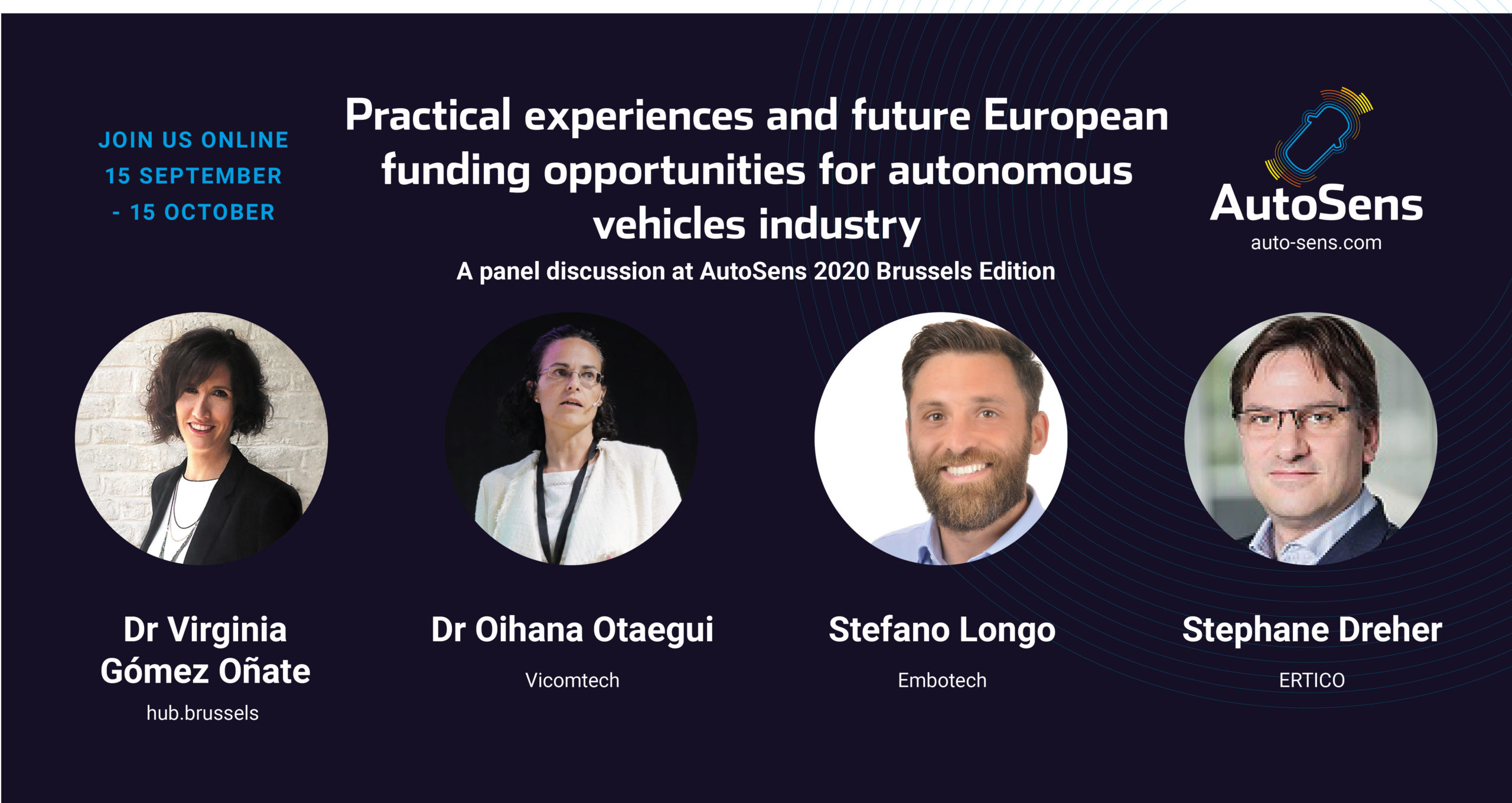 Practical experiences and future European funding opportunities for autonomous vehicles industry